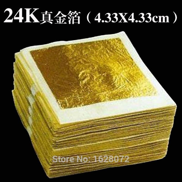 100 Sheets Genuine 24k Edible - Food Decoration Leaf Mask For Cosmetology Gold Foil Q190528