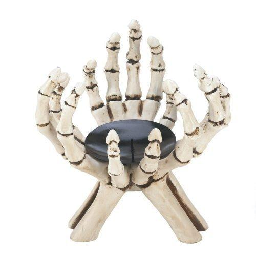 Skeleton Hands Candle Stand (pack of 1 EA)