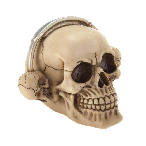 Rockin Headphone Skull Figurine (pack of 1 EA)