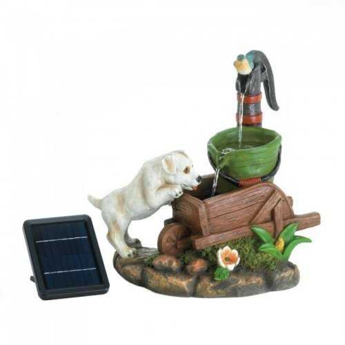 Solar Puppy Dog Fountain (pack of 1 EA)