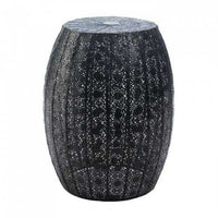 Black Moroccan Lace Stool (pack of 1 EA)
