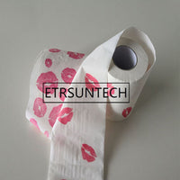 100pcs Funny Sexy Lip Kiss Toilet Paper Tissue Roll Bath Hen Party Stag Humour Home Decoration Gift Party Supplies