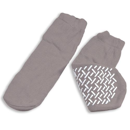 Slipper Socks; XXL Grey Pair Men's 12-13