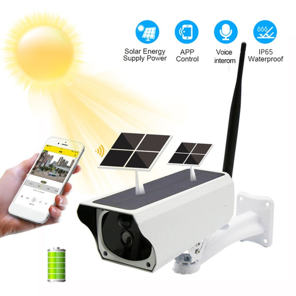 1080P WiFi IP Camera Solar Battery Charge Security Camera IP65 Waterproof PIR Motion Night Vision Surveillance CCTV Camera