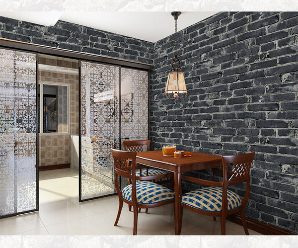 10MX53CM Chinese Vintage 3D Faux Brick Wallpaper Roll PVC Vinyl Old Stone Wall Paper For Restaurant Cafe Home Decoration