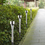 10pcs/lot Stainless Steel Led Solar Lawn Light Outdoor Solar Power Decking light Waterproof IP65 Garden Landscape Lawn Lamp