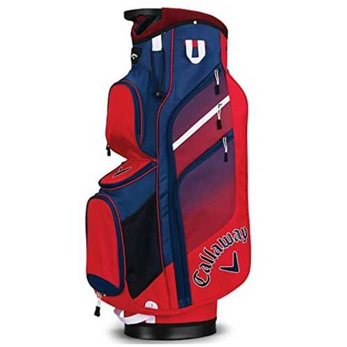 Callaway CHEV ORG Cart Bag - Red/Navy/White