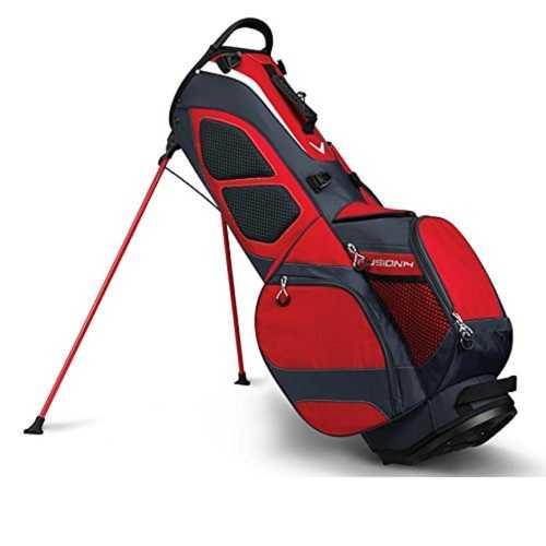 Callaway Fusion14 Stand Bag - Red/Titanium/Silver