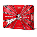Callaway Chrome Soft 18 Golf Ball - 12 Pack White/Red