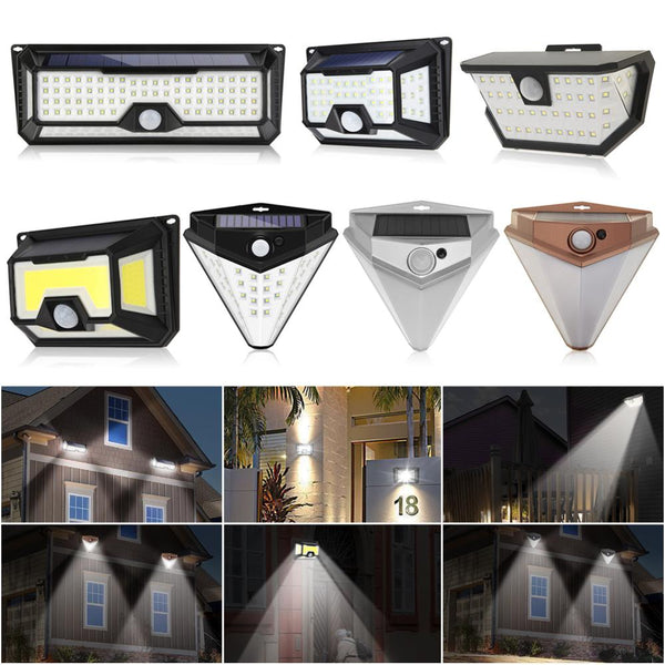 118/136LED Solar Light Solar PIR Motion Sensor Lamp IP65 Waterproof Outdoor Garden Yard Lamp Emergency Security Light Solar Lamp