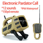 12 Prove Sounds Electronic Pardator Call 150yd Remote Hunting Decoy IP66 Waterproof Coyote Howls Sounds Wildlife Trap Calls