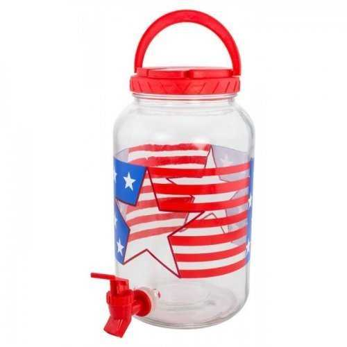 1 Gallon Patriotic Beverage Dispenser (pack of 1 EA)