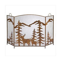 Rustic Forest Fireplace Screen (pack of 1 EA)