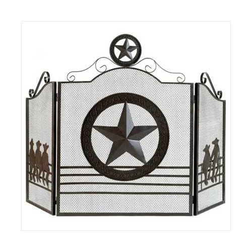 Lone Star Fireplace Screen (pack of 1 EA)