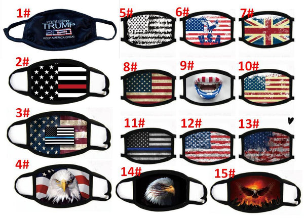 Patriotic Face Masks. These American Flag face masks are light, Reusable and machine washable too.  Prices:  1 for $15  3 for $40  5 for $60