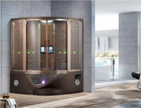 1500X1500X2200mm Double Person Bathroom Steam Shower Enclosure With TV/DVD Computer Control Wet Sauna Room 7028G