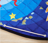 150cm Baby Soft Play Mat Game Blanket Pad Kids Play Carpet Climb Mat Crawling Mat  Sundries Pouch Toys Storage Bag 1pc