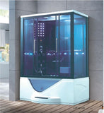1600X1100X2200mm Double Person Bathroom Steam Shower Enclosure Computer Control Wet Sauna Room 7021LR