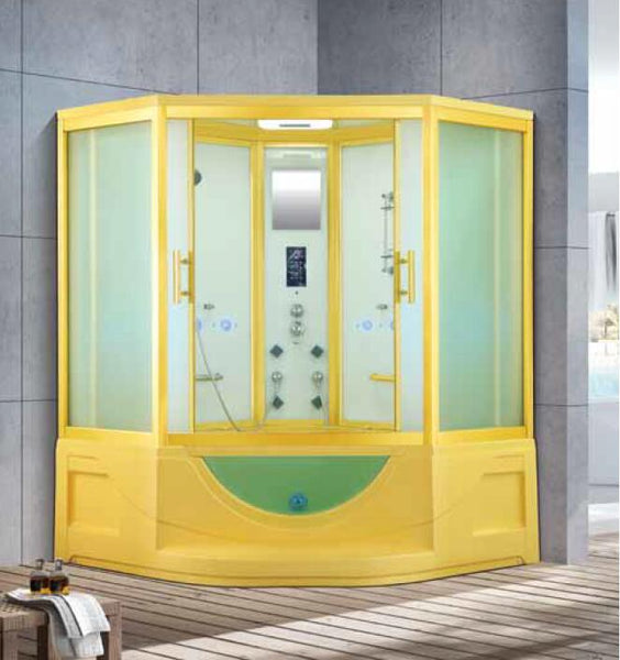 1650X1650X2250mm Double Person Bathroom Steam Shower Enclosure Mult-Functional Computer Control Wet Sauna Room 7026B