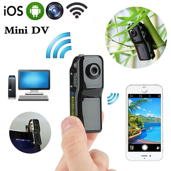 16G Card+Mini Wifi Wireless Outdoor Portable Camera Mini DV Wireless IP Camera HD Cam Voice