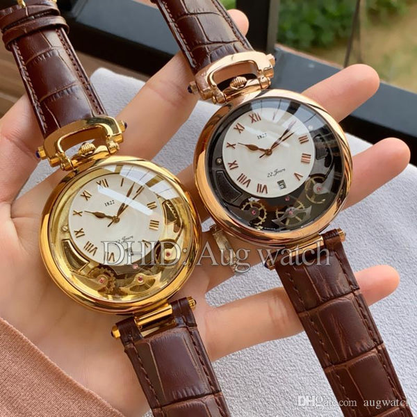 1822 Luxury Gold Watch Classic Limited Editon mens women Watches Mechanical Automatic leather strap Montre de luxe