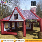 19.7ft*16.4ft *16.4ft hot sale inflatable party pub house tent/party bar tent supplier 6x5x5m BG-A1246-2 toy tent