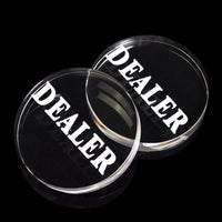 1PC Acrylic Button 58mm diameter Pressing Poker Cards Guard poker dealer button poker chips