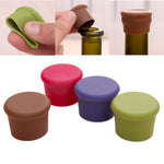 1PCS Silicone Beer Wine Stopper plug Bottle Cap Anti-Lost Kitchen Bar Tool Random Color