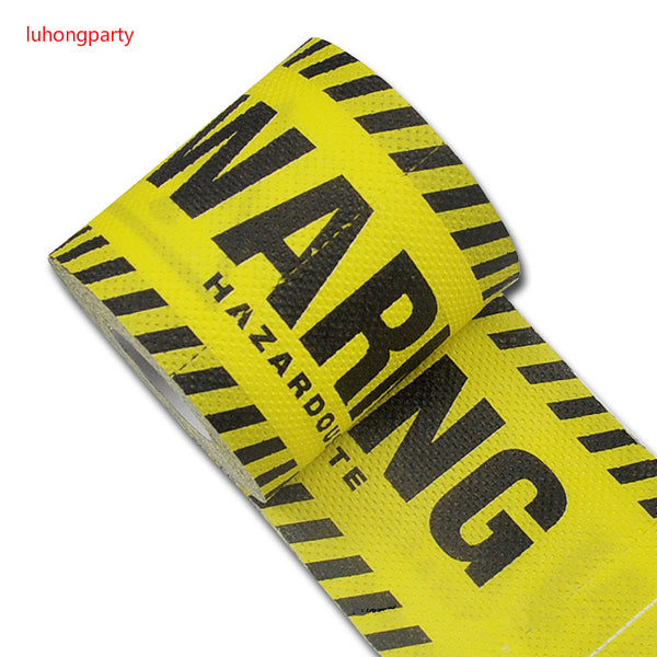 1Pack 30m/pack yellow warning Printed Paper Toilet Tissues Roll Toilet Paper Novelty Toilet Tissue Wholesale