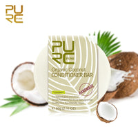 1Pc Deeply hydrating Hair Care Organic Flavor Coconut Conditioner Bar Handmade hair shampoo Repair Damage Frizzy Shampoo TSLM2