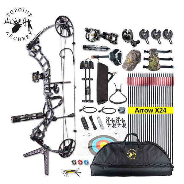 1Set 19-70lbs Archery Compound Bow TRIGON Right Hand CNC Milling Bow Riser IBO 320FPS Hunting Shooting Accessory