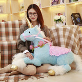 1pc 100cm 3 colors Cute Unicorn Horse Plush Toys huge Stuffed Animal Pony Doll Photography props for Kids Creative Birthday Gift