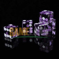 1pcs 19mm High-grade Acrylic Dice Poker Screen Casino