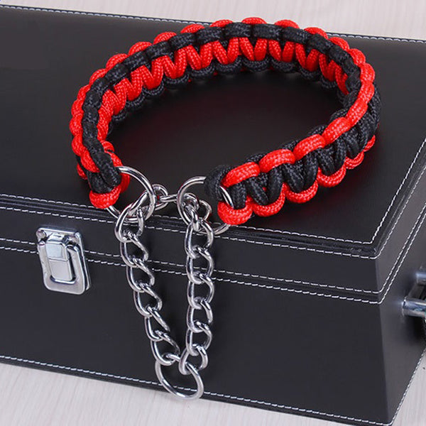 1pcs Adjustable Professional Metal Pinch Dog Training Chain Collar Strong Pet Choke Collars Necklace Pet Neck Rope Basic Collars