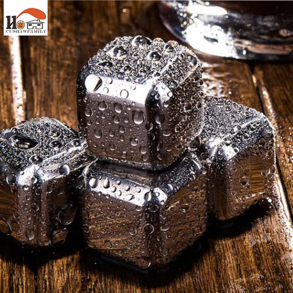 1pcs Magic Stainless steel whisky ice cubes/bar, KTV supplies wiskey/wine/beer cooler Ice Stone Barware Supplies Kitchen tools