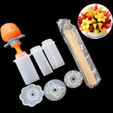 1set DIY Push Pop Shaper Cutter Food Fruit Cake Cutting Vegetable Decor Tools Food Decorator Kitchen Gadgets Accessories Tools