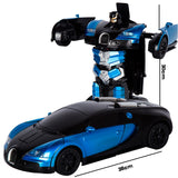 2.4G Induction Deformation RC Cars Transformation Robot Car Toy Light Electric Robot Models Toys for Children Gifts