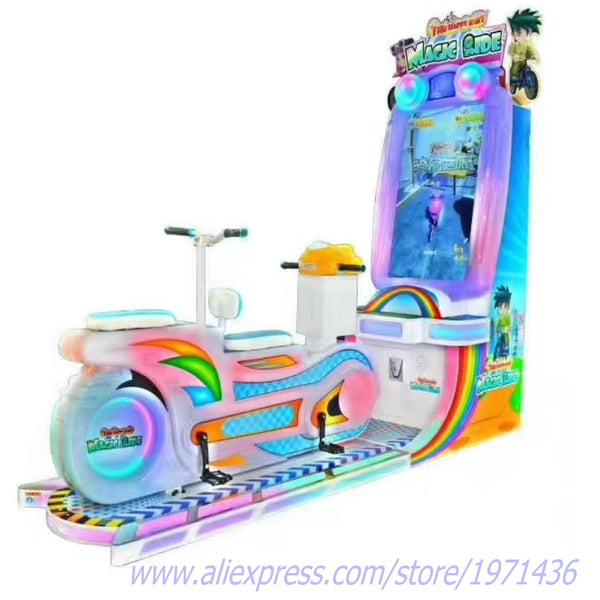 2 Players Adults and Kids Sport Simulator Bike Riding Coin Operated Video Arcade Racing Game Machine