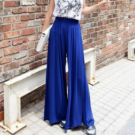 Cotton Linen Pleated High Waist Palazzo Wide leg Pants Women Plus size Loose Trousers