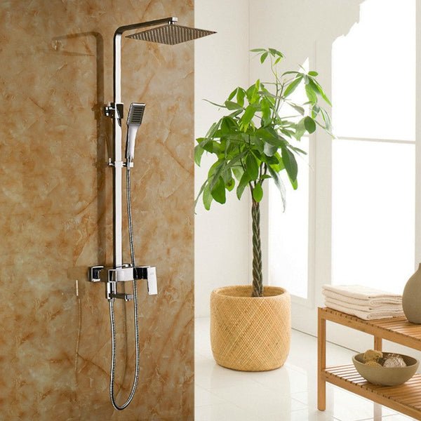 2016 Time-limited 8 Inch Shower Panel Tap Manufacturers Selling All Copper Thin Big Top Spray Shower Set Cold Tropical File