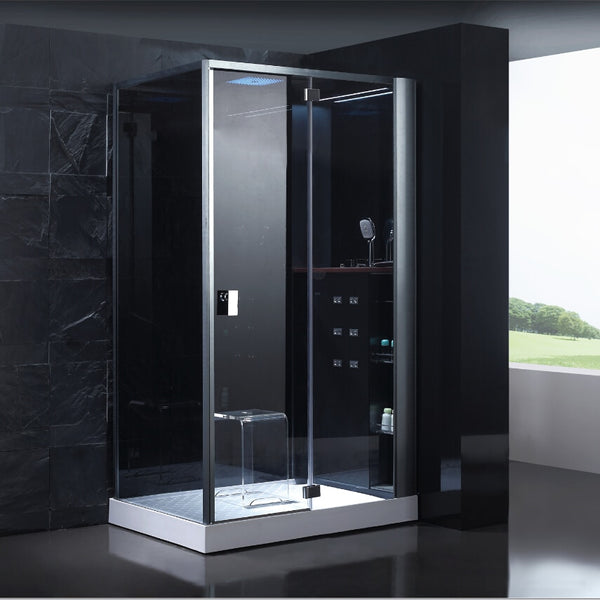 2017 new design luxury steam shower enclosures bathroom steam shower cabins jetted massage walking-in sauna rooms ASTS1087