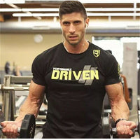 2018 Men Summer Gyms T shirt Fitness Bodybuilding Crossfit Cotton Shirts Short Sleeve Workout Male Sporting Tee Tops Clothing