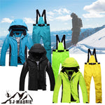 2018 Mens Ski Suit Windproof Snow board Ski Pants + Jacket Skating Set kurtka zimowa damska	Winter Warm Ski Clothes