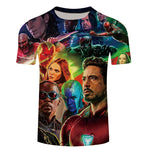 2018 Movie Avengers 3 Infinity War Superhero T Shirt Men Slim 3d Print T-shirt marvel Tee Shirts Cool Mens Summer Tops Tee