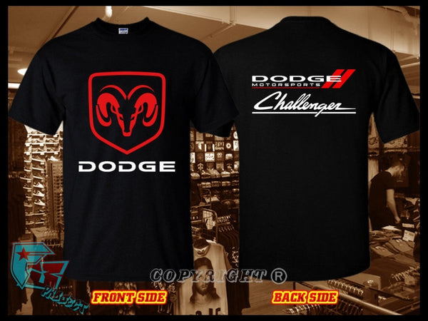 2018 New Fashion Summer New Design Cotton Mens Tee Shirt Designing New Dodge Motorsports Challenger Logo T-Shirt Unique T Shirts