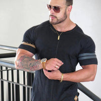 2018 New Men T Shirt Men's Sportss T-shirt Summer Male Gyms Fitness Bodybuilding Workout Shirts Short Sleeves Tees Tops Clothing
