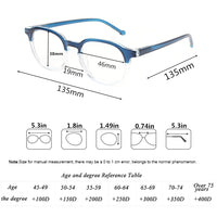 2018 New fashion reading glasses for men and women spring hinge translucent eyeglasses frames comfortable readers