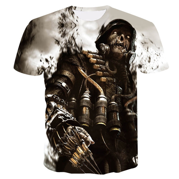 9c83f0df9 2018 New skull 3D Printing T-shirt Men Fitness Compression Shirts Tops Male  T-
