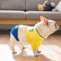 2018 Pet Summer Clothes for Dogs Soccer Jersey World Cup Cheerleading Wear French Bulldog Bikini Chihuahua for Small Dogs S-XL