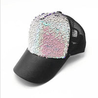 Fashion luxury snapback baseball cap cap brand gorras caps hats hat Woman Sequin mesh hip hop hats for men women